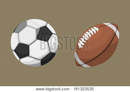 Sport balls isolated tournament win round basket soccer equipment and recreation leather group traditional different design vector illustration. American many hobbies activity symbol.