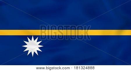 Nauru Waving Flag. Nauru National Flag Background Texture.