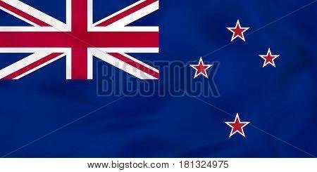 New Zealand Waving Flag. New Zealand National Flag Background Texture.