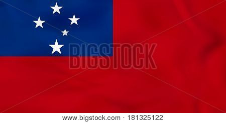 Samoa Waving Flag. Samoa National Flag Background Texture.