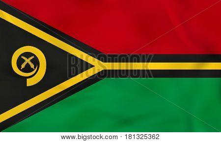 Vanuatu Waving Flag. Vanuatu National Flag Background Texture.