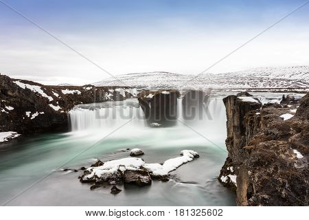 Godafoss Is One Of The Most Beautiful Waterfalls On The Iceland