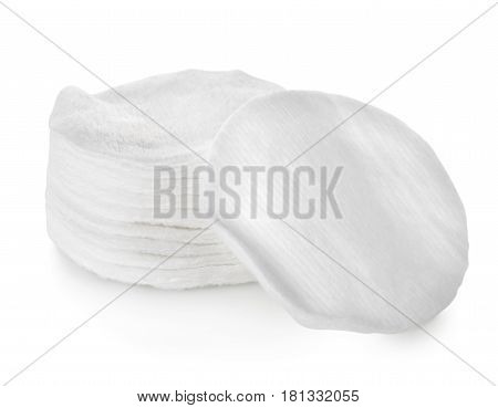 Cotton swabs isolated on a white background