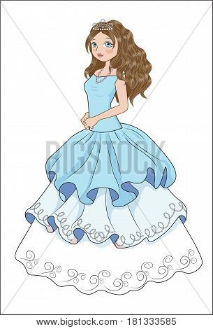 the beautiful girl in a ball evening dress the bride the princess