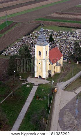 PRELOSCICA, CROATIA - NOVEMBER 10: Parish Church of Saint Michael in Preloscica, Croatia on November 10, 2007.