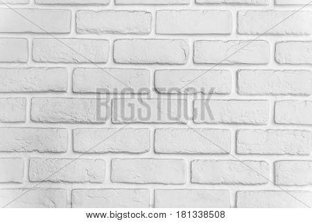 White brick. City Clay Brick white wall