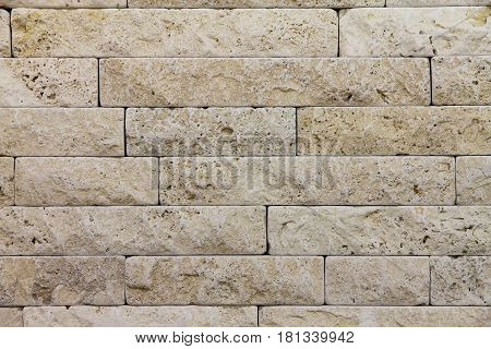 a natural Italian stone. Smooth travertine surface
