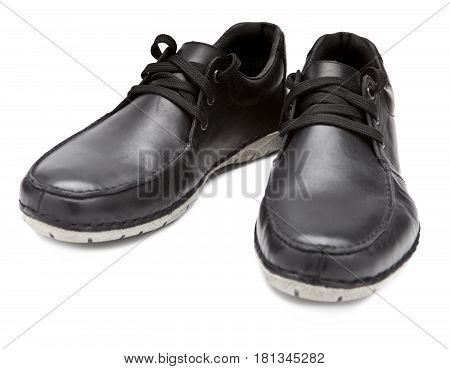 Men's boots . Still-life on a white background