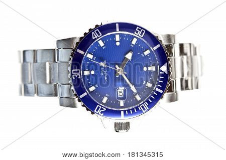 Wrist watches . Still-life on a white background