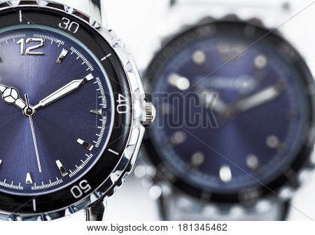 Wrist watches.Still-life on a white background .