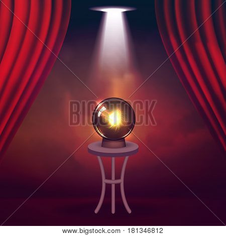 Magic Show poster design template. Magic show flyer design. Magical illusion fiction in theater