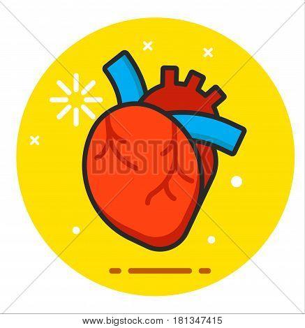 Heart human icon illustration vector design logo