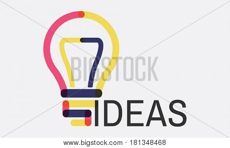 Bulb Sign Idea Symbol Word