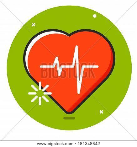 Heart pulse human icon vector illustration design