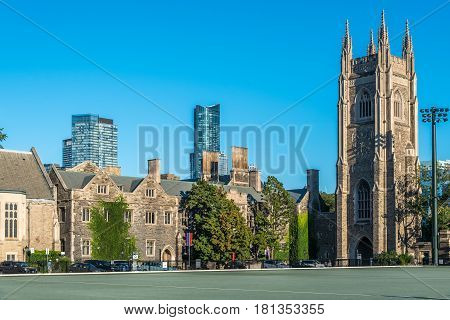 Picture of the Historic buildings in Downtown Toronto Canada
