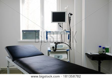 gastroscopy device in a medical room