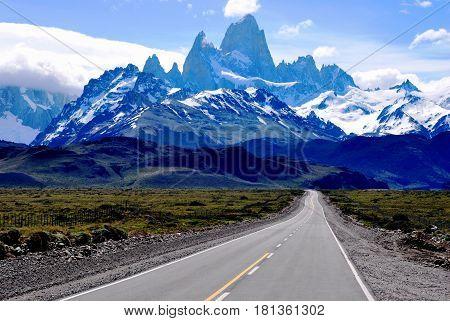 View of Mt Fitz Roy in the Santa Cruz region, Patagonia, Argentina