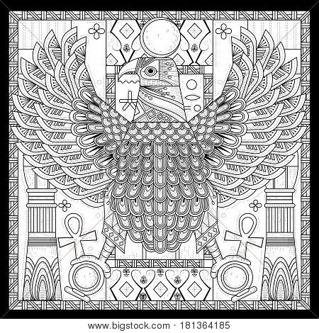 Elegant Eagle Coloring Page