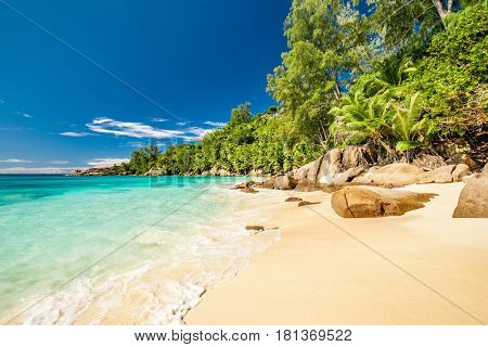 Beautiful beach Anse Intendance at Seychelles, Mahe