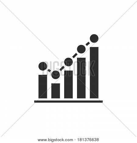 Growing Graph Icon Vector, Business Chart Solid Logo, Pictogram Isolated On White, Pixel Perfect Ill