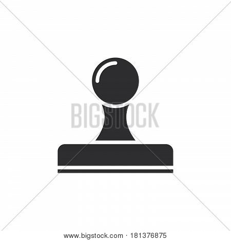 Rubber Stamp Icon Vector, Solid Logo, Pictogram Isolated On White, Pixel Perfect Illustration