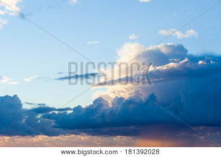 Beatiful Sunset With Clouds Over The Baltic Sea