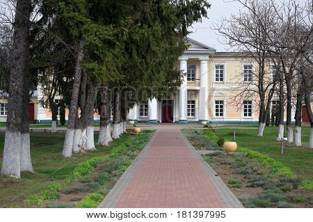 Gomel, Belarus - 8 April 2017: Manor House Of Rudievsky In The Village Of Peredelka. The Date Of Con