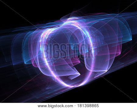 High power electromagnetic energy field computer generated abstract background 3D rendering