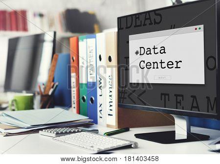 Computer Screen Data Center Word Window Pop up