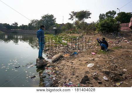 India Is One Of The Most Polluted Countries. Jaipur India.