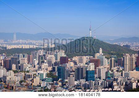 Seoul City And Downtown Skyline, South Korea