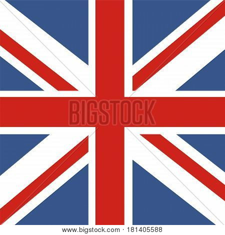 Flag of Great Britain. Official UK flag of the United Kingdom.
