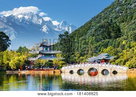 Scenic View Of The Jade Dragon Snow Mountain, Lijiang, China