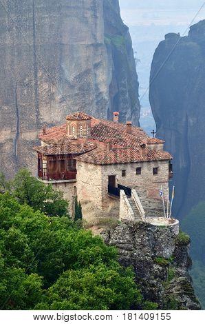 Monastery Roussanov, Meteora, Greece