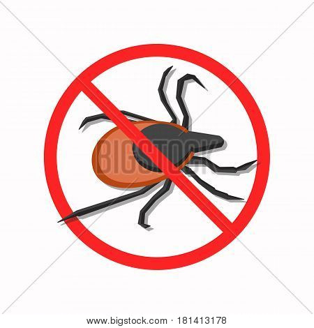 The protection against mites. The illustration shows a dangerous mite. This is a vector image.