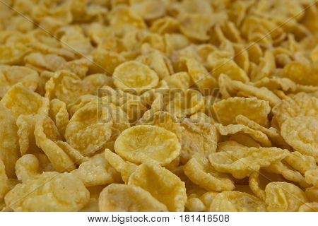 background of goldish corn flakes, natural, tasty and healthy