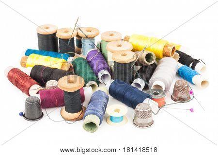 Spools of thread with needle
