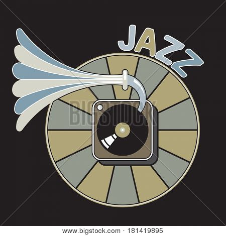 gramophone icon, jazz music
