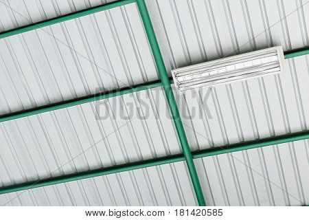 metal sheet steel roof with heat protection.