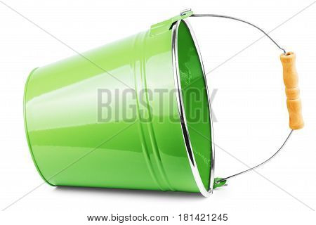 green bucket isolated on white background Gardening, Wear, Country, Horticulture, Capacity, Spout, Galvanized, Contrasty, Balde