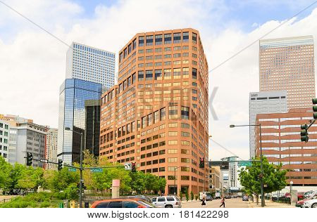 Busy Downtown Denver