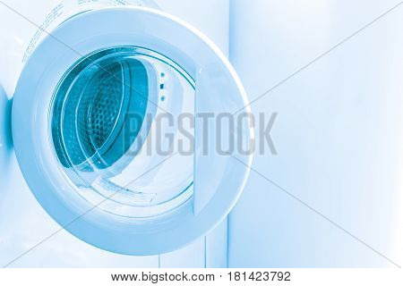 Front Load Washer or Washing Machines Modern lifestyle home technology for cleaning clothes.