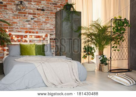 King-size Bed In Modern Bedroom