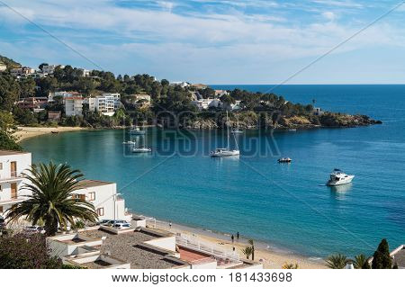 Petites Canyelles Beach in Roses Costa Brava Catalonia Spain