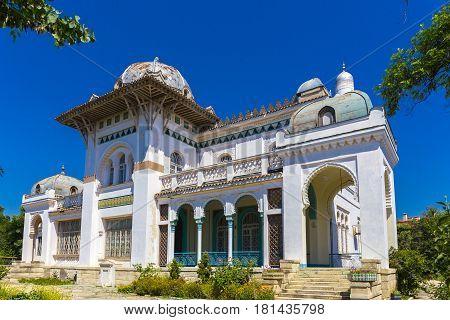 Oriental style architecture building, dacha Stamboli Feodosia Crimea