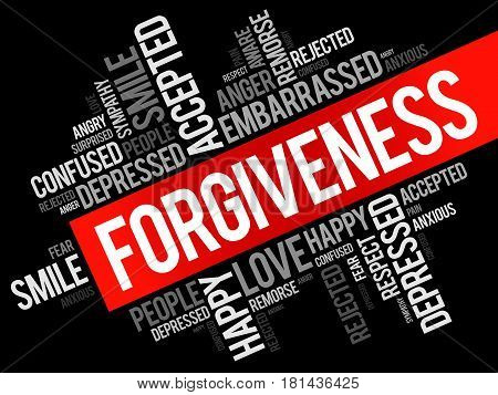 Forgiveness Word Cloud Collage