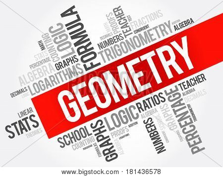 Geometry Word Cloud Collage