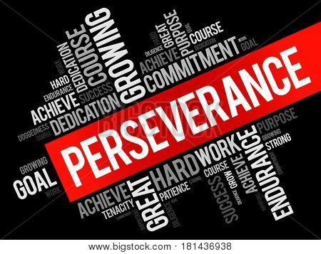 Perseverance Word Cloud Collage