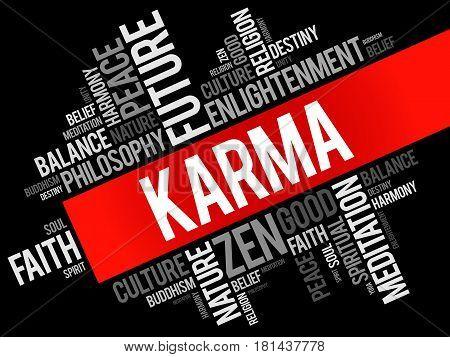 Karma Word Cloud Collage