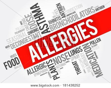 Allergies Word Cloud Collage